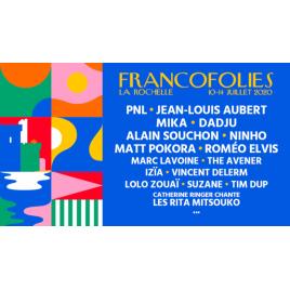 Francofolies 2020 : Mika - Catherine Ringer chante les Ritas Mitsouk - Alain Souchon - Suzane …