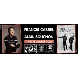 Festival de Nîmes 2020 : Francis Cabrel / Alain Souchon, Nîmes, le 18/07/2021