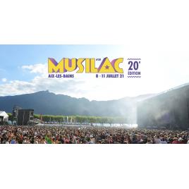 Festival Musilac 2020 (2) : pass 3 jours + camping, Aix Les Bains