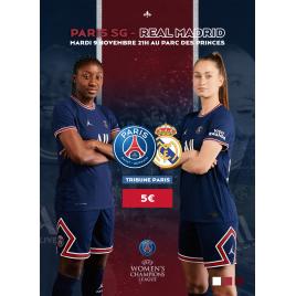Paris Saint-Germain Féminines / Réal de Madrid Féminines, Paris, le 19/10/2021