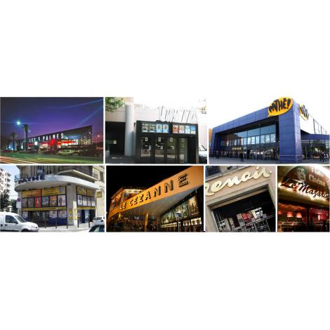 Ciné accès (les 3 palmes, Plan de Campagne, Aix, ...), Cinémas Les 3 Palmes, Plan De Campagne, Aix, ...