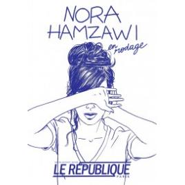 Nora Hamzawi en rodage , Paris